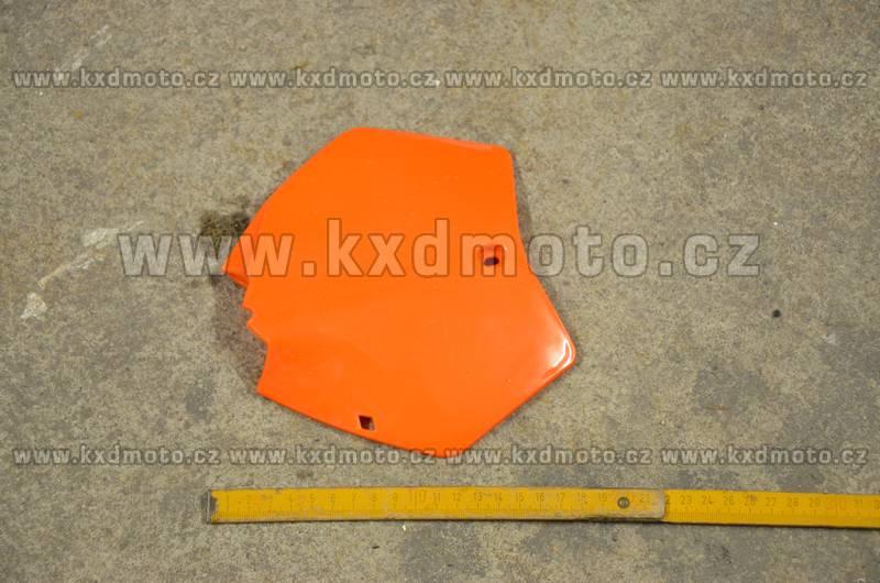 přední štítek číslo minicross typ1 - oranžová