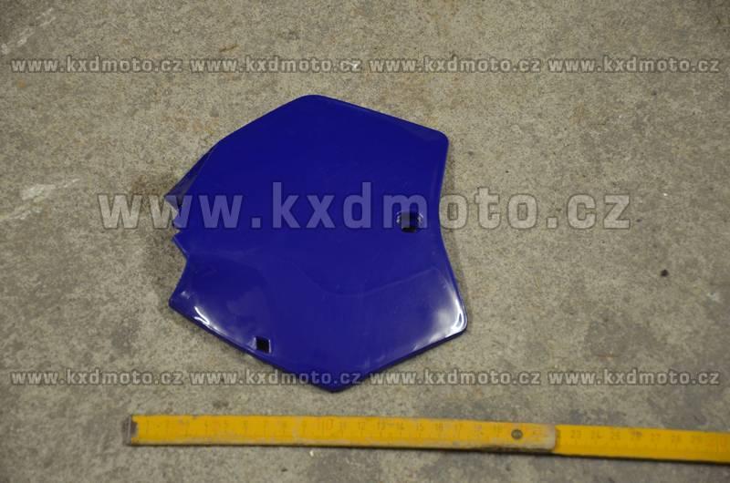 přední štítek číslo minicross typ1 - modrá