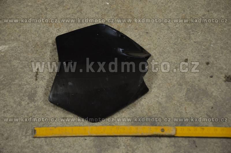 přední štítek číslo minicross typ1 - černá