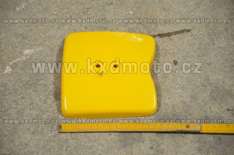 přední štítek číslo minicross typ2 - žlutá