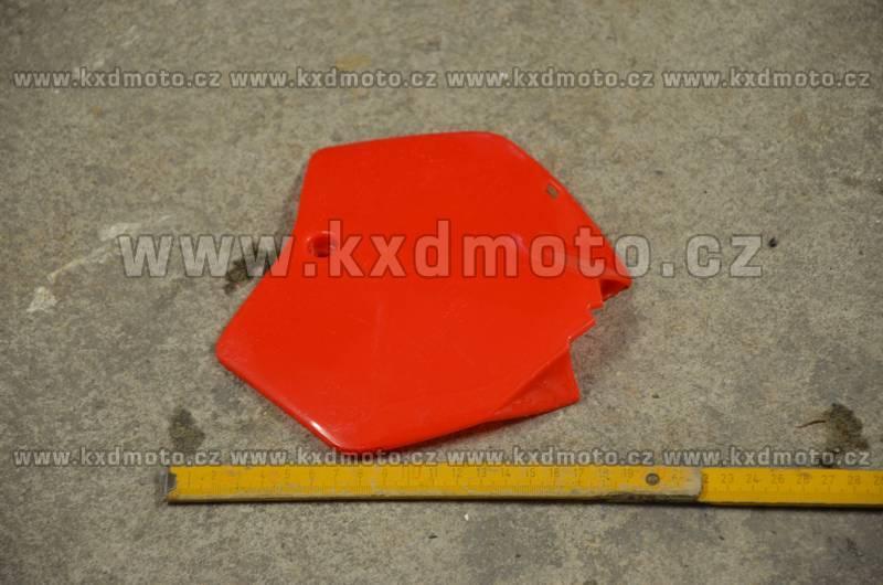 přední štítek číslo minicross typ1 - červená