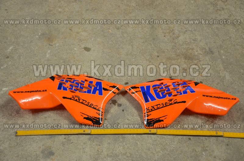boční plasty minicross typ3 - oranžová + nálepky