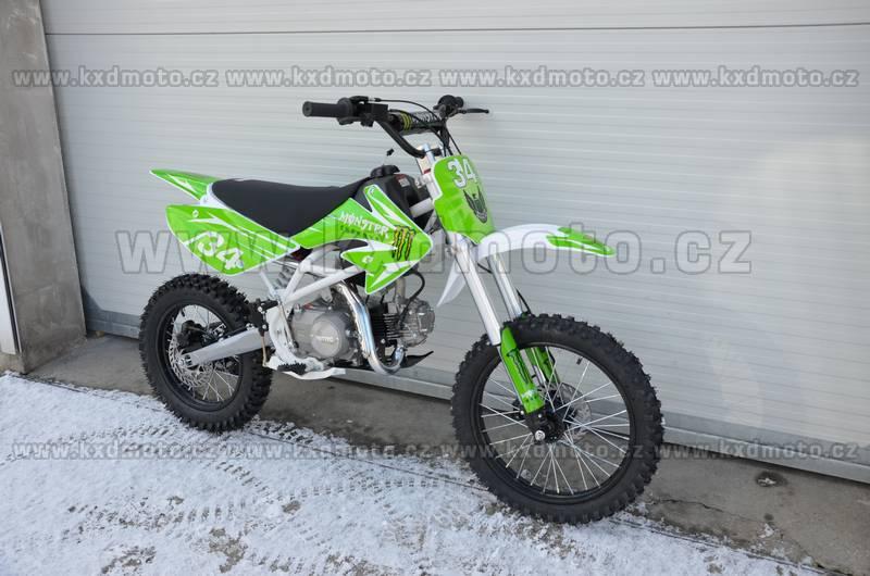 dirtbike thunder cross MONSTER 125ccm 17/14 - zelená
