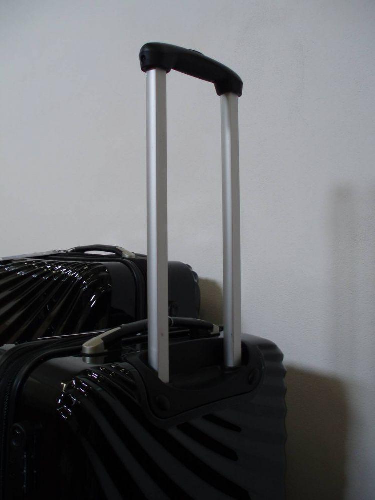 sada skořepinové kufry 3ks cestovní 4 kolečka - černá lesk