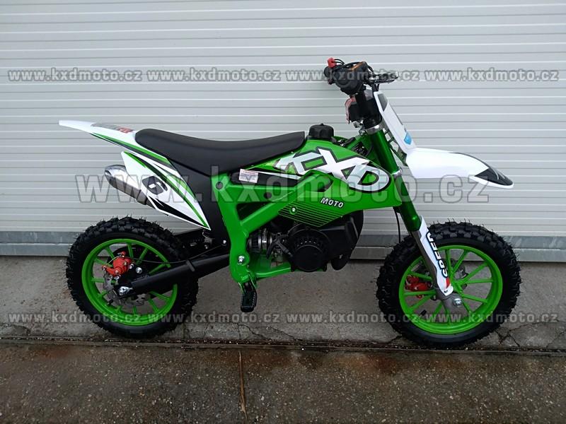 minicross 706A Flash 49cc - zelená