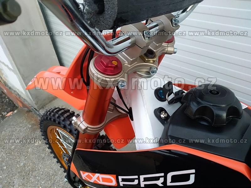 dirtbike GT-K125 edice KXDPRO 125ccm kola 17x14 - oranžová