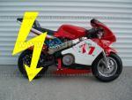 elektro minibike eco 800w - červená